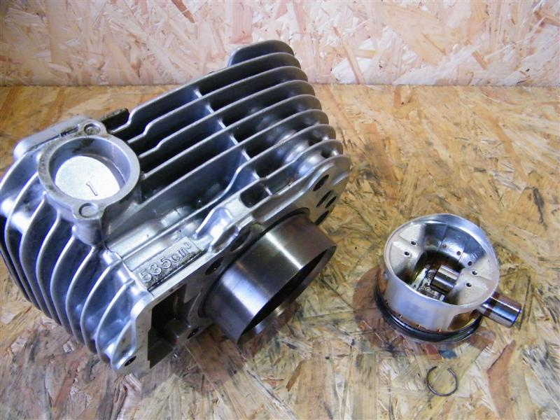 Cylinder tłok sworzeń tył Yamaha XV 535 Virago